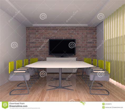 salle de r 233 union avec la tv 224 l int 233 rieur du bureau photo libre de droits image 22432615