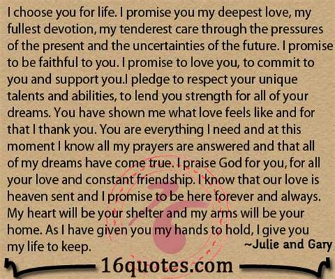 I Promise To Love You Forever Quotes Quotesgram
