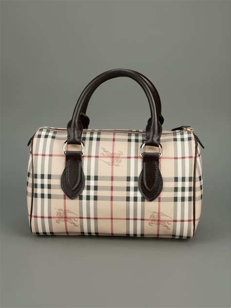 burberry chester bowling bag  brown natural lyst