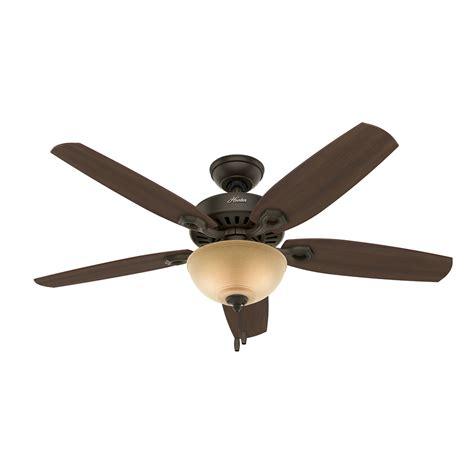 bronze ceiling fan light kit shop hunter builder deluxe 52 in new bronze indoor downrod