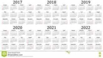 Yearly Calendar 2017 2018 2019 2020 2021