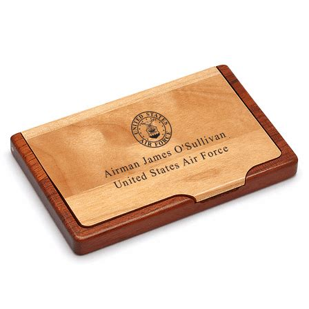 air force personalized business card holder executive