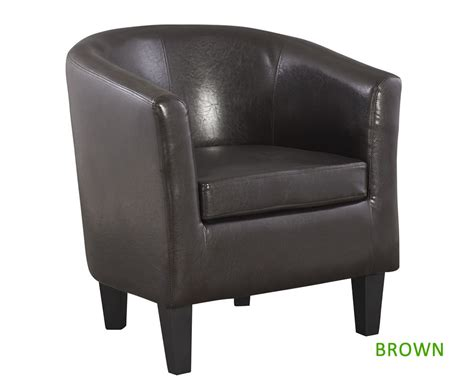linden faux leather tub chair just armchairs