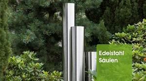 Edelstahl Für Den Garten : edelstahl s ulen edelstahl wasserspiele wasserspiele oase oase teichshop ~ Sanjose-hotels-ca.com Haus und Dekorationen