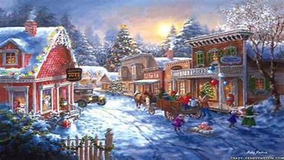 Christmas Scenes Scene Wallpapers Wallpapertag Related