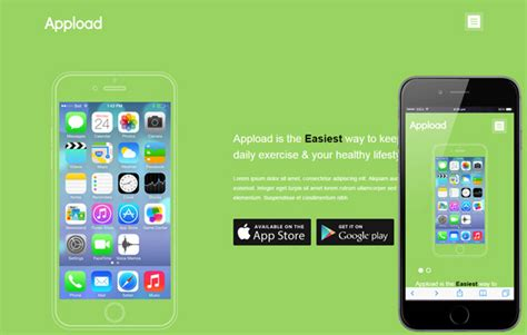 App Download Html5 Template by 20 Best Html5 Mobile Templates Code Geekz