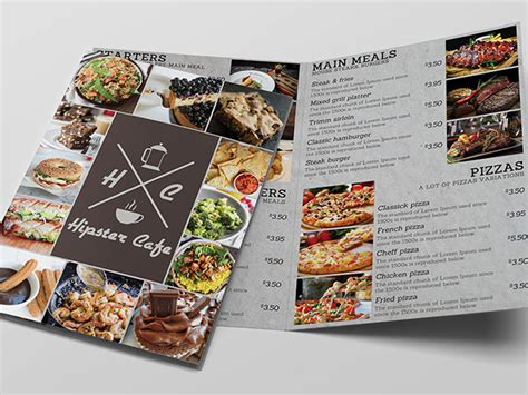 With this files can create personalized product with custom design. CAFE BI-FOLD MENU Free Mockup - Mockup Free Downloads