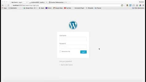 access  wp admin  php mysql   login youtube
