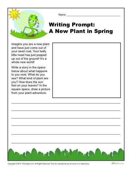 a new plant in spring writing prompt for 3rd 4th and 5th