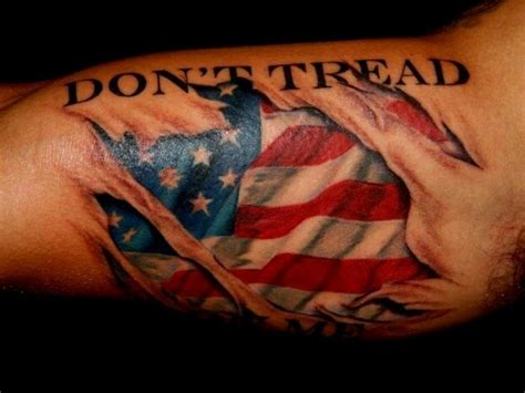 patriotic american flag tattoos  love usa