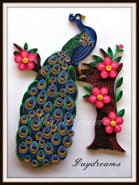 daydreams quilled peacock