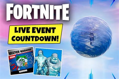 fortnite event  countdown  time  epic  ice