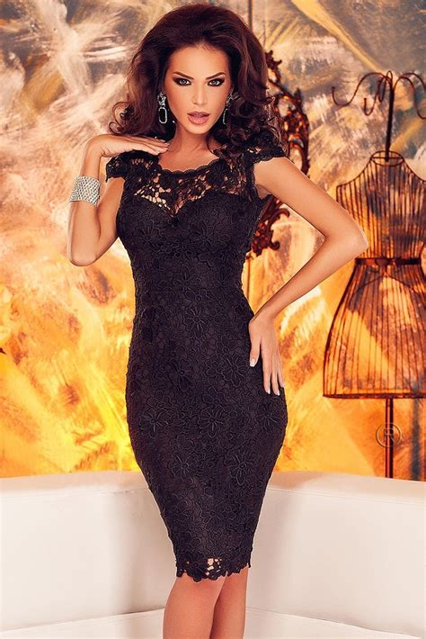 Sexy Black Lace Back Open Party Corset Dress Online