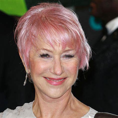 Helen Mirren New Pink Hair Bafta Awards 2013 Popsugar