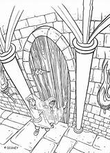 Potter Harry Coloring Inkleuren Kleurplaat Vergroten Klik Deze Afbeelding Om Te sketch template