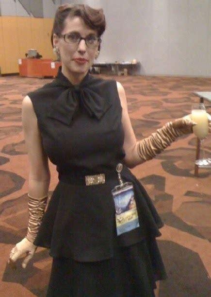 retro rack worldcon retrospective  long black dress
