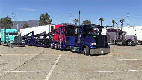 Peterbilt 389 Car-hauler Leaving Truckin' For Kids 2013