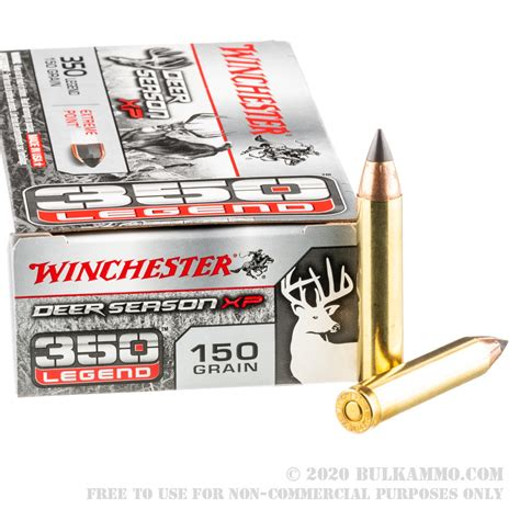 20 Rounds Of Bulk 350 Legend Ammo By Winchester 150gr Xp