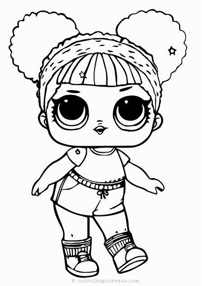 Lol Coloring Doll Dolls Printable Drawing Painting