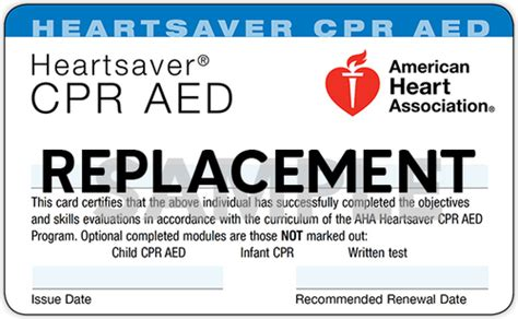 In fact, the american heart association acts as a competitor in the marketplace by selling its own training. Replacement Cards for AHA Courses - Safcare