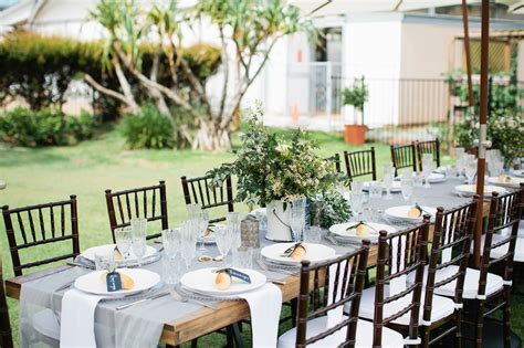hton event hire wooden dining tables walnut chairs white linen napkins