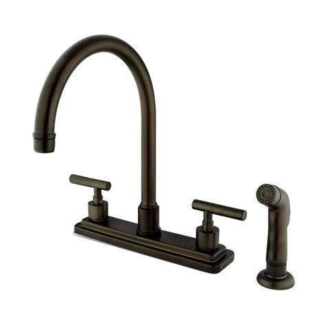 2 handle kitchen faucet rubbed bronze shop elements of design manhattan rubbed bronze 2
