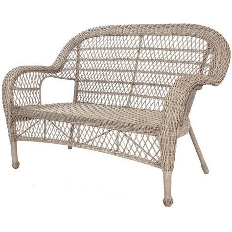 Wicker Settee by Wicker Settee Taupe At Home