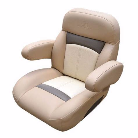 Pontoon Reclining Captains Chair by Sun Tracker Napa Vinyl Non Reclining Pontoon Boat Captains