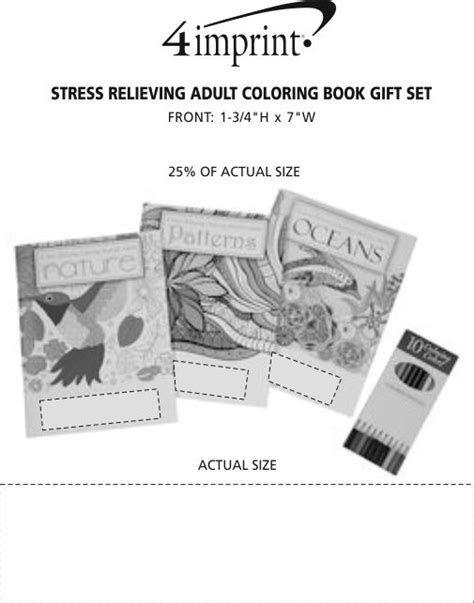 4imprint com stress relieving adult coloring book gift