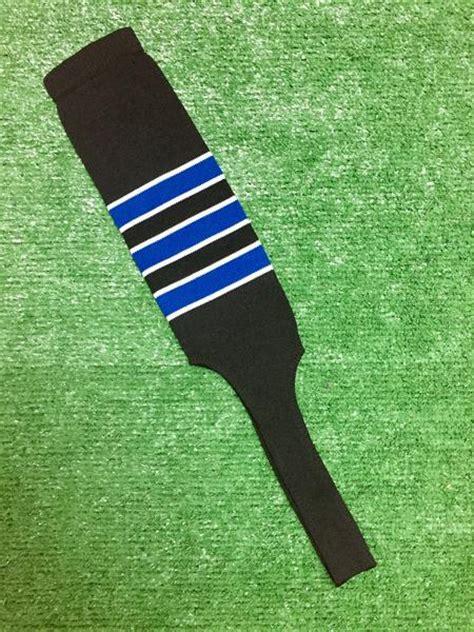 baseball stirrups   black  royal blue stripes
