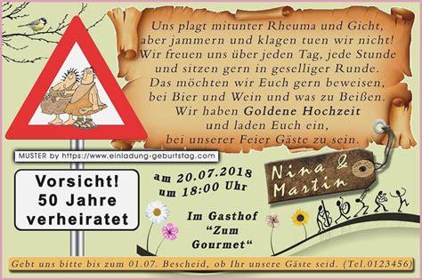 Einladung Goldene Hochzeit Lustig