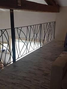 Rambarde Fer Forgé : garde corps rambarde balcon contemporain couloir ~ Dallasstarsshop.com Idées de Décoration