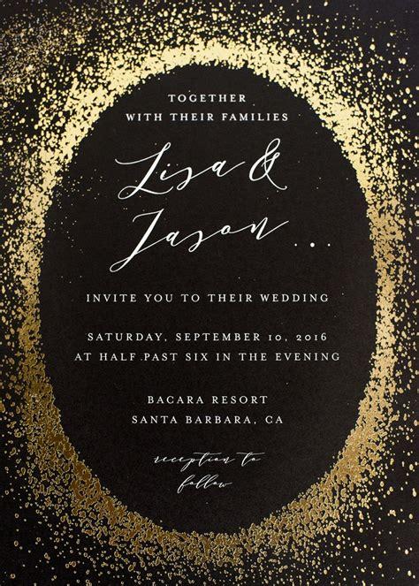 Invitations & More Photos Black Invitation with Gold