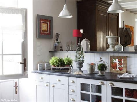 deco cuisine et grise idee deco cuisine blanche et grise