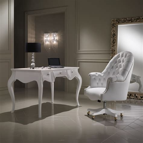 luxury white leather executive office chair