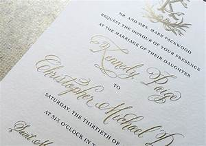 kennedy christopher39s classic gold engraved wedding With how much are engraved wedding invitations