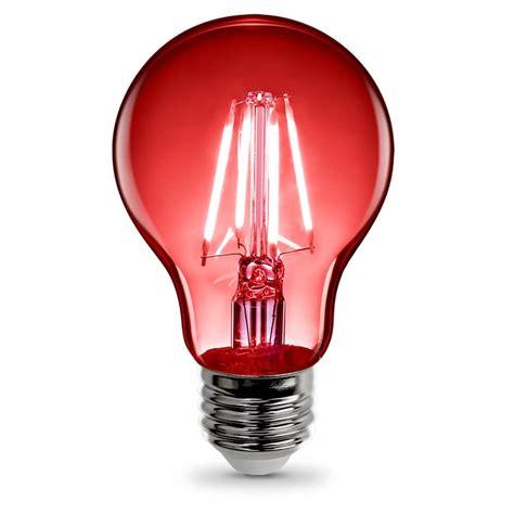 red led light bulb a19 clear glass led bulb feit electric