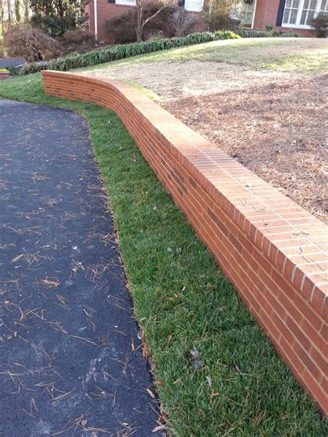 brick retaining wall brick retaining walls planters
