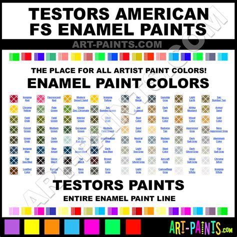 testors american fs enamel paint colors testors american
