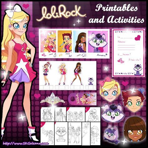 I love dark iris' color. Free LoliRock Printables and Activities - SKGaleana