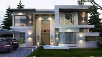 modern villa design 2 fachadas