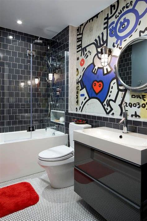 cool bathroom decor cool graffiti wall bathroom