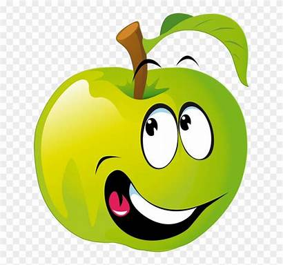 Clipart Fruit Fruits Face Smiley Apfel Funny