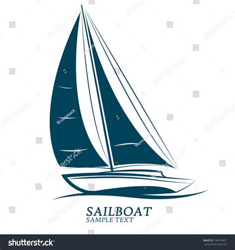 Sailboat Vector by Sailboat Vectorillustration Stock Vector 196185401