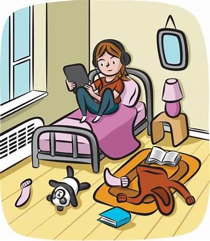 Bedroom Messy Clip Screen Illustrations Tween Cartoons