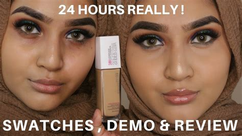 Maybelline Superstay Foundation 24 Hour Review Swatches