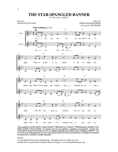 The Star-Spangled Banner Sheet Music | Tim Sharp | 2-Part ...