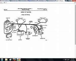 I Have A 1950 Deere M Tractor  I Need A Wiring Diagram For
