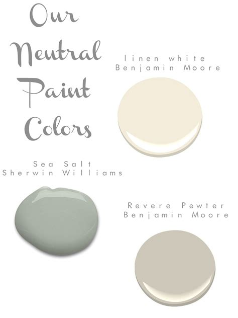 serene neutral paint colors by benjamin and sherwin