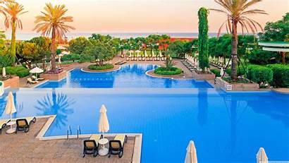 Tropical Island Hotel Wallpapers Pool 4k Landscape